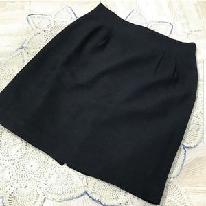 DAVID N Pencil Skirt With Back Zip & Slit